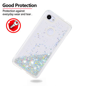 Image 5 - Luxe Liquid Quicksand Soft TPU Phone Case Voor Google Pixel 3a XL 3a Case Back Cover Glitter Bling Sequin Dynamische bumper Coque