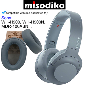 Image 5 - misodiko Replacement Ear Pads Cushions Kit  for SONY h.ear on MDR 100ABN WH H900N WH H900, Headphones Repair Parts Earpads Cover