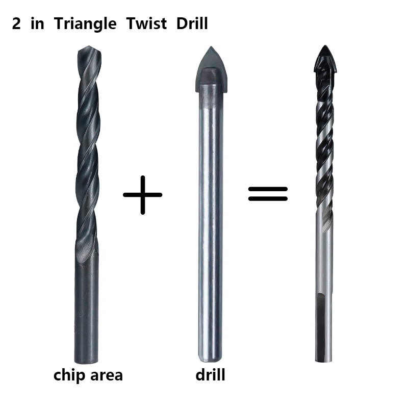 XCAN Tungsten Carbide Drill Bit 6mm 8mm for Porcelain Ceramic Tile,Concrete,Brick,Glass,Plastic Masonry and Wood Gun Drill Bit
