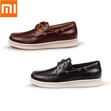 Xiaomi Mannen Mode Toevallige Koe lederen Boot Loafers Schoenen man slijtvaste rubberen zool outdoor sneakers(China)