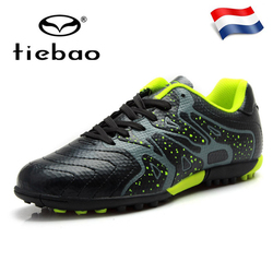TIEBAO Soccer Shoes Adult Teenagers Sports Football Boots TF Turf Sneakers Atheletic Football Boots Parent-Kid Shoes EU30-45