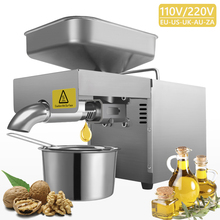 Oil-Press-Machine Linseed-Oil Commercial Extrator Household SUNZ Stainless-Steel