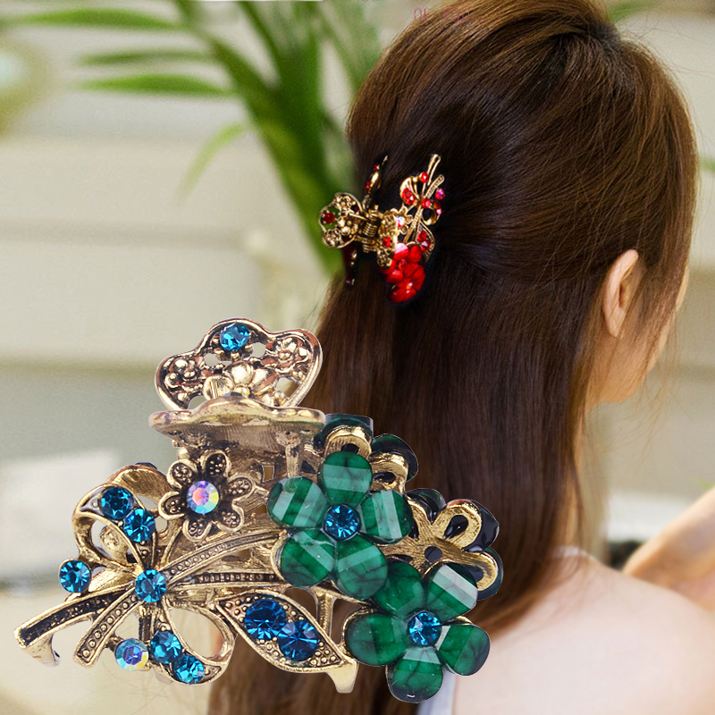 Claw Hair Clips For Women Girls Hair Clip Styling Tools Hair Accessories Hairpins Flower Headwear Fashion Crystal Barrettes