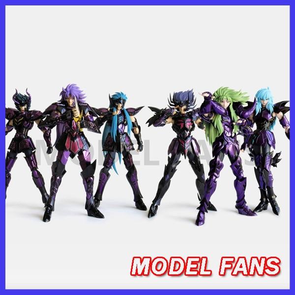 Фигурки моделей в наличии Saint Seiya Specters gold saint EX Aquarium/Capricornus/pisces, фигурка из ткани, миф, металлическая Броня
