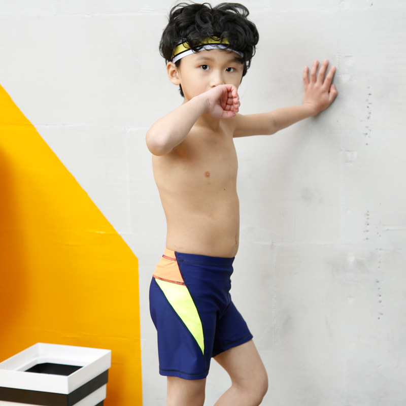 New Style CHILDREN'S Swimming Trunks Athletic Solid Color Mixed Colors Children Male Baby Swimming Trunks Primary School STUDENT