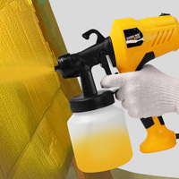 Unique Spray Gun 400W 220V High Power Home Electric Paint Sprayer 3 Nozzle Easy Spraying and Clean Perfect for Beginner EU Plug