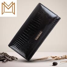 Men Women General Purpose Genuine Leather Crocodile Long Wallet Head Layer Skin Small Package Hand