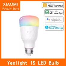 חדש Yeelight LED הנורה מנורה חכמה 1S צבעוני מנורת מתכוונן אור בהירות 800 Lumens E27 עבור Mi בית App גוגל עוזר