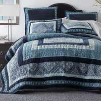 Handmade Quilt Set Shams 3-piece Vintage Patchwork Bedspread Quilted Bedding Quilts Bed Cover King Size American Style Coverlets
