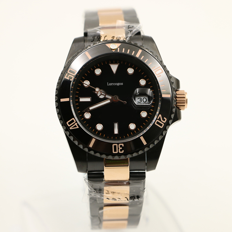 watches top quality Business brand automatic mechanical watch stainless steel ceramic bezel luminous wristwatch mast