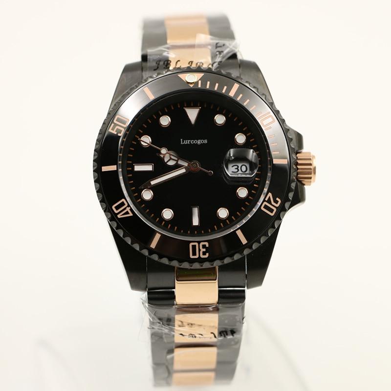 watches top quality Business brand automatic mechanical watch stainless steel ceramic bezel luminous wristwatch mast