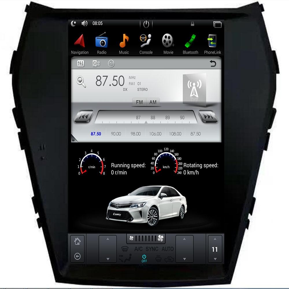 Car PC PAD Tesla Style Multimedia Player Android 9.0 7.1 GPS Navigation For Hyundai iX45 Santa Fe 2013 2014 2015 2016 2017 2018+