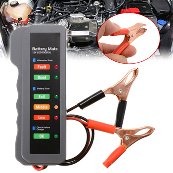 Mayitr 1pc Portable 4-12V Lead Acid Car Universal Battery Load Tester Digital Analyzer LED Indicator For Motorcycle Scooter image