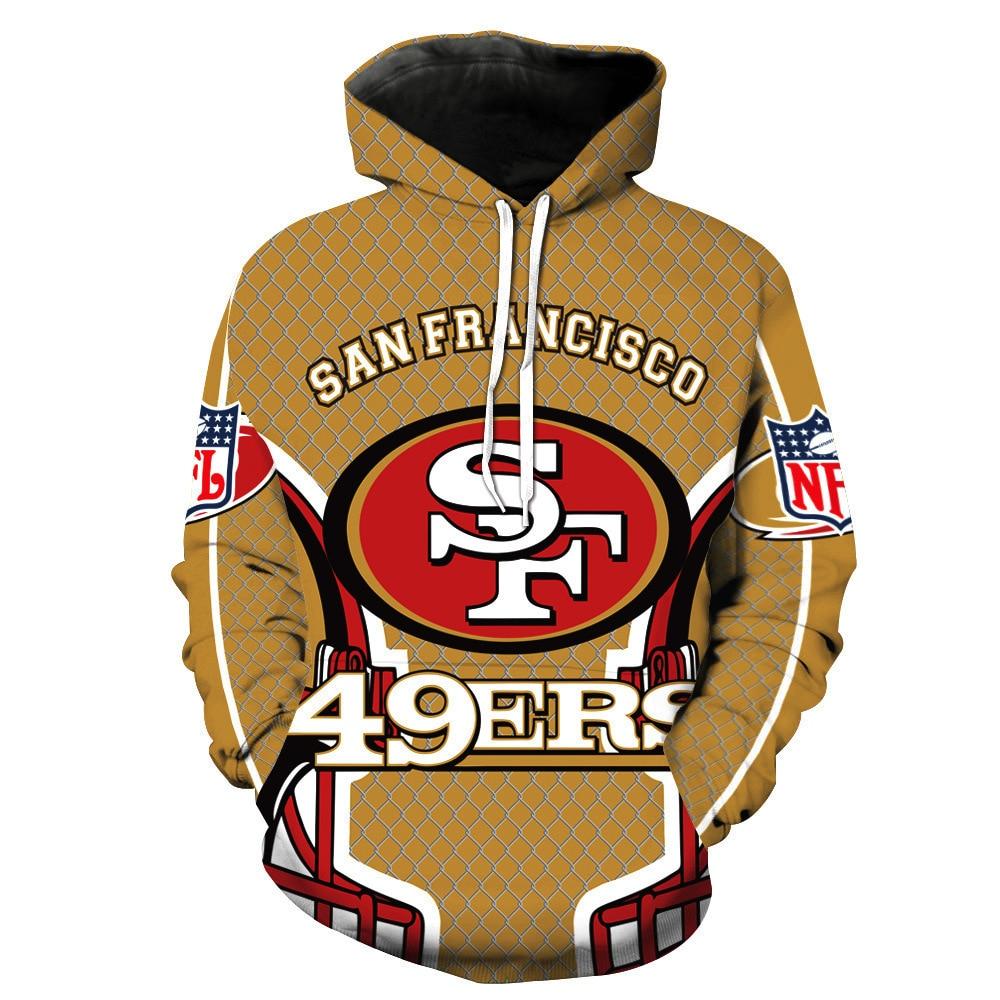 2020 American Football Hoodie Men  49ers Hoody Hip Hop Sweatshirts Clothes