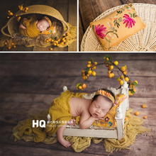 New baby pillow newborn photography props embroidered pillow full moon baby studio photography auxiliary props clothing hat