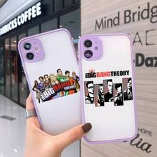 The Big Bang Theory TBBT Phone Case Matte Transparent for iPhone 7 8 11 12 s mini pro X XS XR MAX Plus cover funda