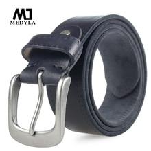 ميدلا الايطالية حزام جلد البقر cowرعاة البقر الحبوب الكاملة جلد طبيعي لينة القهوة الفاخرة مصمم أحزمة عالية الجودة حزام
