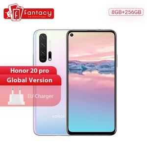 Глобальная версия Honor 20 Pro, 8G, 256G, смартфон Kirin 980, Восьмиядерный, камера 48 МП, NFC, Google Play, мобильный телефон, 6,26 дюймов, GPU Turbo3.0