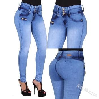 Women's Autumn Winter Long Denim Pants High Waist Jeans Skinny Sexy Pants for Women Clubwear Plus Size S-5XL Trousers 2