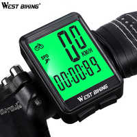 WEST BIKING Waterproof Bicycle Computer Wireless / Wired MTB Bike Cycling Odometer Stopwatch Speedometer Watch LED Digital Rate