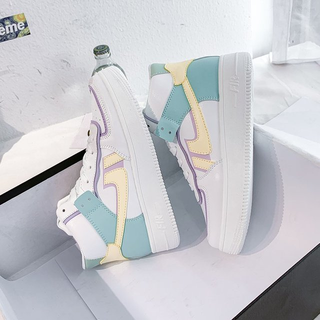 2020 Hot Flats Woman Sneakers Women's Shoes Ladies Casual Breathable Female Vulcanized Shoes Lace Up Woman Comfort Walking Shoes