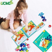 Magnetic Animal Jigsaw Game Montessori Educational Brain Teaser Toy Gift 72PCS Children's Magnetic Dinosaur Puzzle Drawing Board