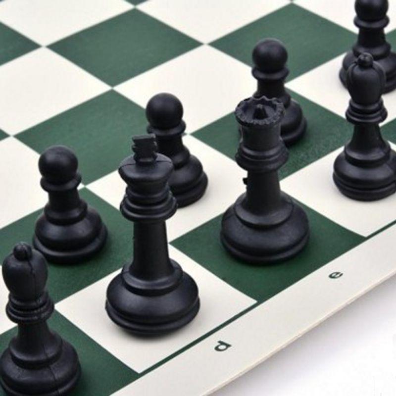 Conjunto de Peças de Xadrez Internacional de Madeira Jogo de Tabuleiro Jogo de Xadrez Dobrável Engraçado Coleção Portátil Mod. 313540