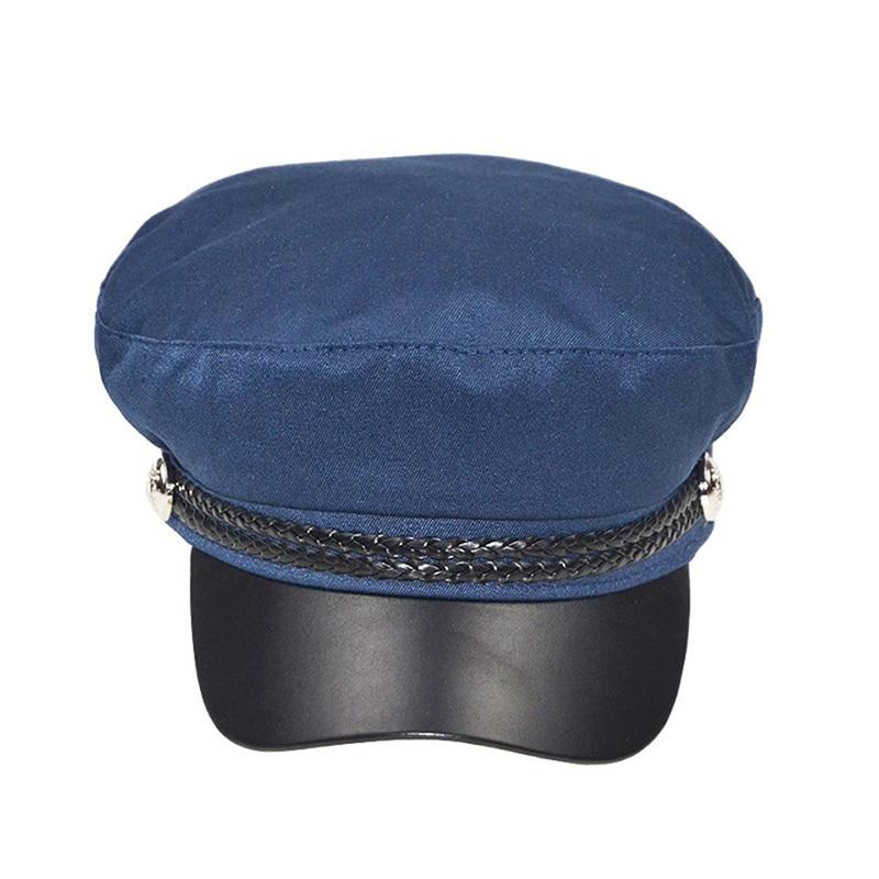 Зимняя женская Повседневная Военная шляпа винтажная мягкая хлопковая шерстяная плоский берет восьмиугольная кепка Модная элегантная женская шапка высокого качества