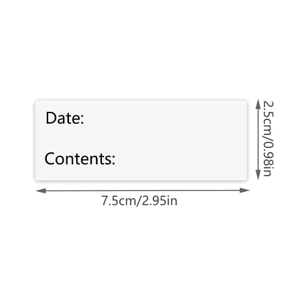125pcs Kitchen food date stickers date content Sticker for Package Mailing Supplies Special Day Favors Labels 2
