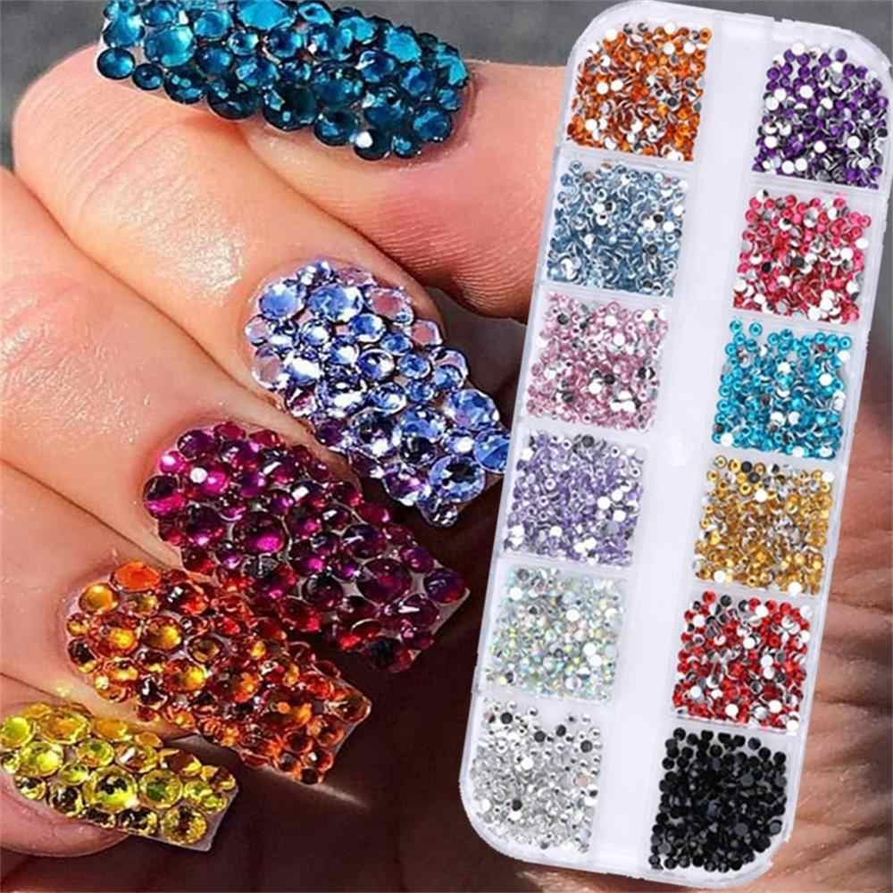 flat back for nail art GLASS Multi-Size Olivine Rhinestones