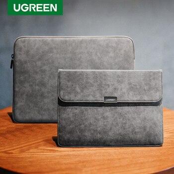 Ugreen torba na laptopa skórzana torba na notebooka skrzynki pokrywa dla Macbook Air Macbook Pro 13 etui na laptopa Funda iPad Pro pokrowiec na powietrze