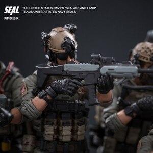 Image 4 - Joytoy 1/18 アクションフィギュア米国海軍シール兵士 (6 ピース/セット) モデルのおもちゃ誕生日/クリスマスプレゼント送料無料