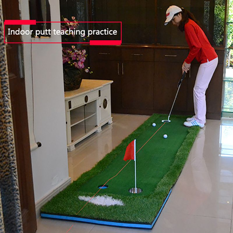 Portable Golf Training Aids Putter (Laser) Pointer Putting Battery Operated Corrector Trainer Practice Accesories