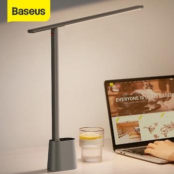 Baseus LED Desk Lamp Smart Adaptive Brightness Eye Protect Study Office Folding Table Lamp Dimmable Bedside Read Night Lights 1