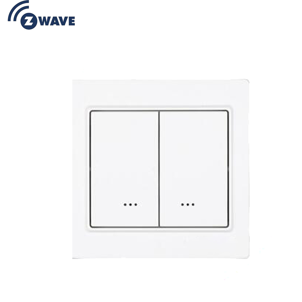 Z-Wave EU Frequency Two Channel Wall Mounted Switch Smart Home Automation EU 868.4MHZ