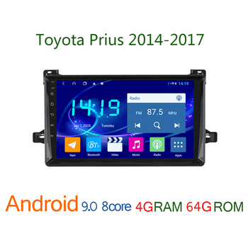 4G+64G car multimedia player FOR Toyota Prius 2014 2017 android auto stereo coche audio carplay GPS navigator central bluetooth image