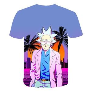 Rick And Morty футболка для отдыха мужская футболка 3D Топы И Футболки Забавные футболки с коротким рукавом 6Xl уличная одежда Прямая поставка