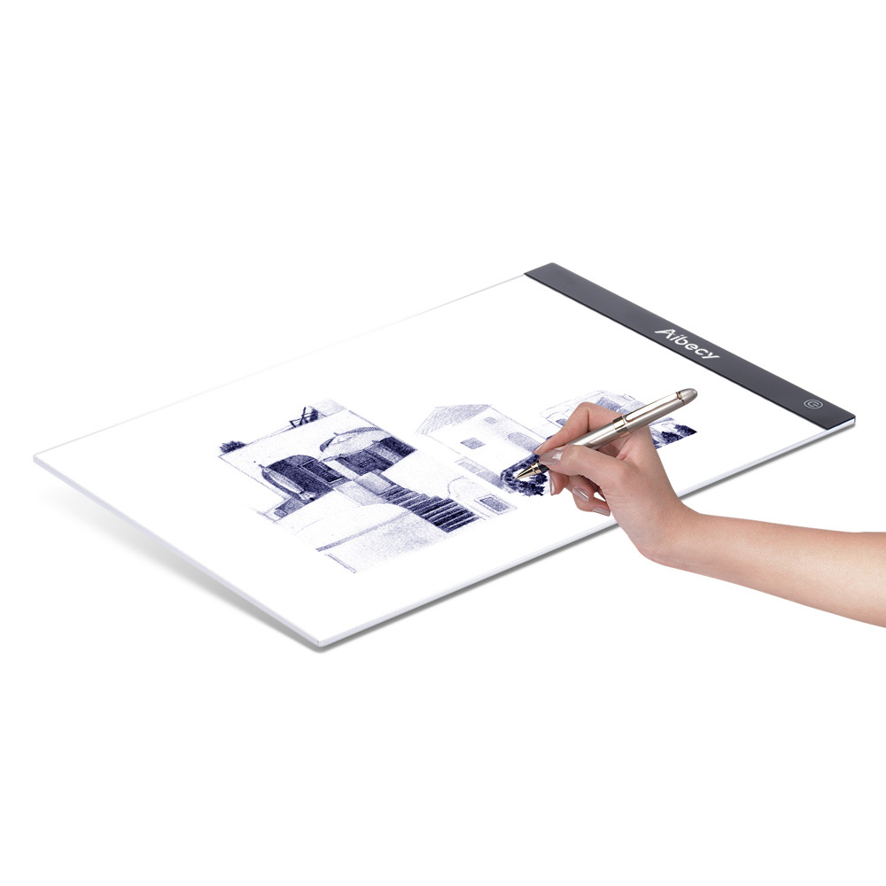 Caja de luz LED portátil ultrafina A4, trazador de dibujo, tabla de trazado de pintura, Panel de copia, brillo regulable continuo