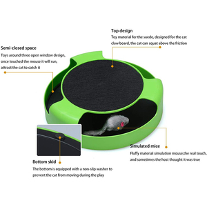 Image 4 - MESNUG 2 In1 Cat Toys Interactive With Running Mice And Scratching Pad Durable Safe Kitten Cat Game Exercise No Battery Needed