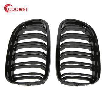 Pair M Color/Gloss Black Car Front Grille For BMW E90 LCI 3-Series Sedan/Wagon 09-11 Racing Grills image