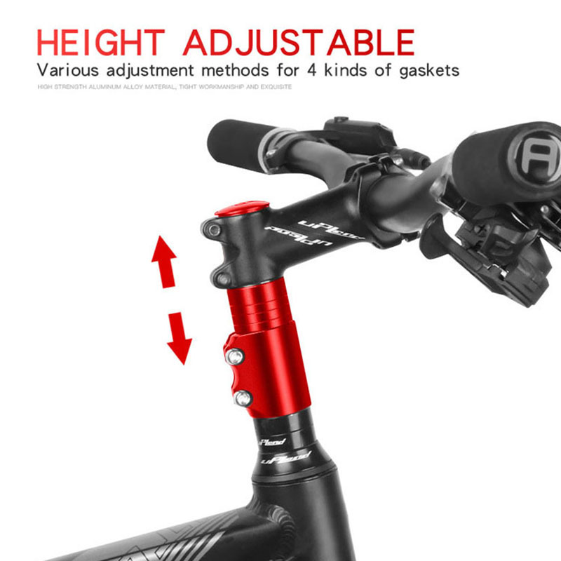 Aluminum Alloy Bike Fork Stem Riser Handlebar Extender Extension Bicycle Cycling Stem Head Up Raiser Handlebar Riser Adaptor image