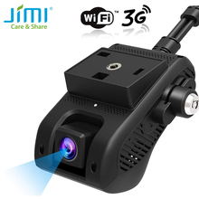 JIMI JC200 3G GPS Tracker Dual Lens Dash Camera Live Streaming Video Car Camera With 1080P WIFI SOS Remote Monitoring by APP& PC