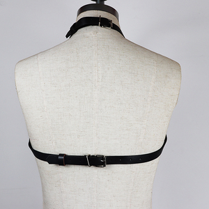Image 5 - CEA Sexy Leather Harness Chain Chest Belt For Women Garter Sexy Body Bondage Harness Dress Waist Belts Fashion Decoration Tops