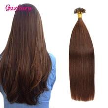 Gazfairy подсказка наращивание волос Remy pre скрепленное естественный цвет 50г 16