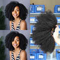 Afro kinky encaracolado pacotes tecer cabelo brasileiro 100% remy extensões do cabelo humano cor natural 8 28 polegadas trama dobro