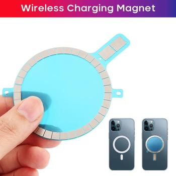 Wireless Charging Magnet For IPhone 11 12 Pro Max 12 Mini Xs 8 Mobile Phone Case Strong Magnetic Leather Cover image