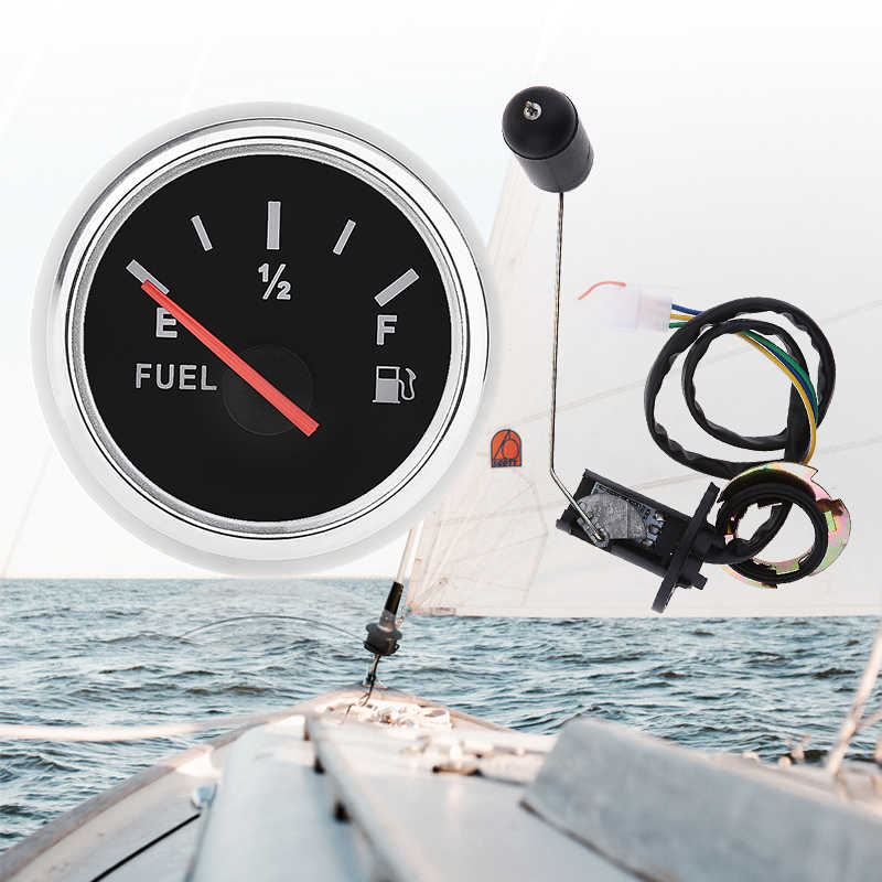 1 مجموعة 12 فولت سيارة قارب عداد مقياس الوقود متر الوقود الاستشعار المرسل وحدة عدة العالمي للسيارات قارب RV ATV رباعية الخ 2 بوصة/52 مللي متر IP67