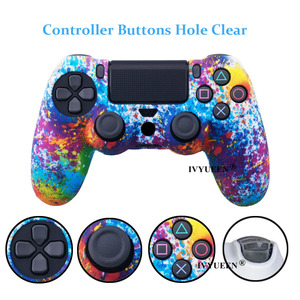Image 4 - IVYUEEN 25 Colors For Sony PlayStation 4 PS4 Pro Slim Controller Silicone Protective Skin Cases Thumb Grips Joystick Caps Cover