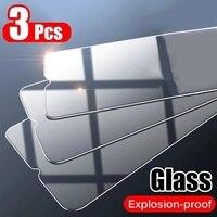 Cubierta completa de vidrio templado para móvil, película protectora de pantalla para Oneplus 9 8T 9R Nord N10 N100 7T Pro 6T McLaren 6 5T 5, 3 uds.