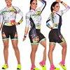 Terno de triathlon profissional, camiseta de ciclismo preta feminina, macacão, manga longa em gel, conjunto de ciclismo, 2019 24